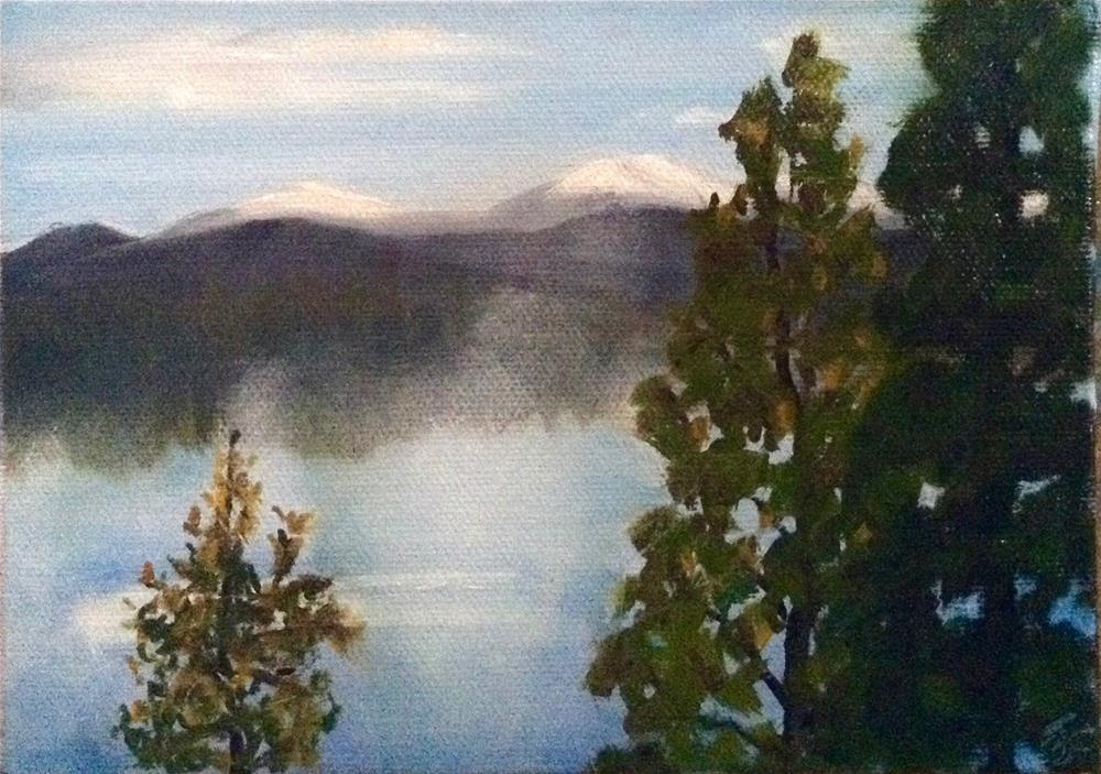 """Rising Fog"" original fine art by Bobbie Cook"