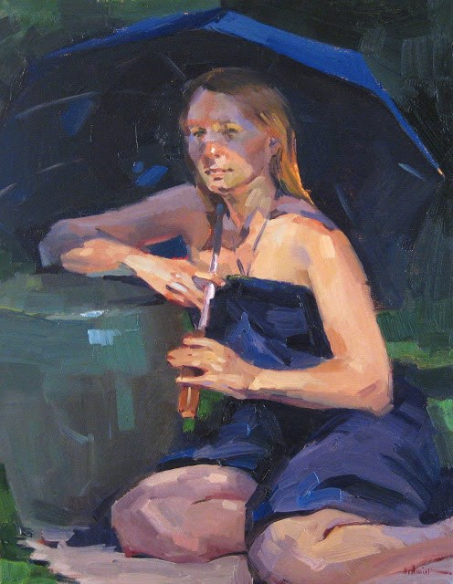 """A Shady Spot"" original fine art by Sarah Sedwick"