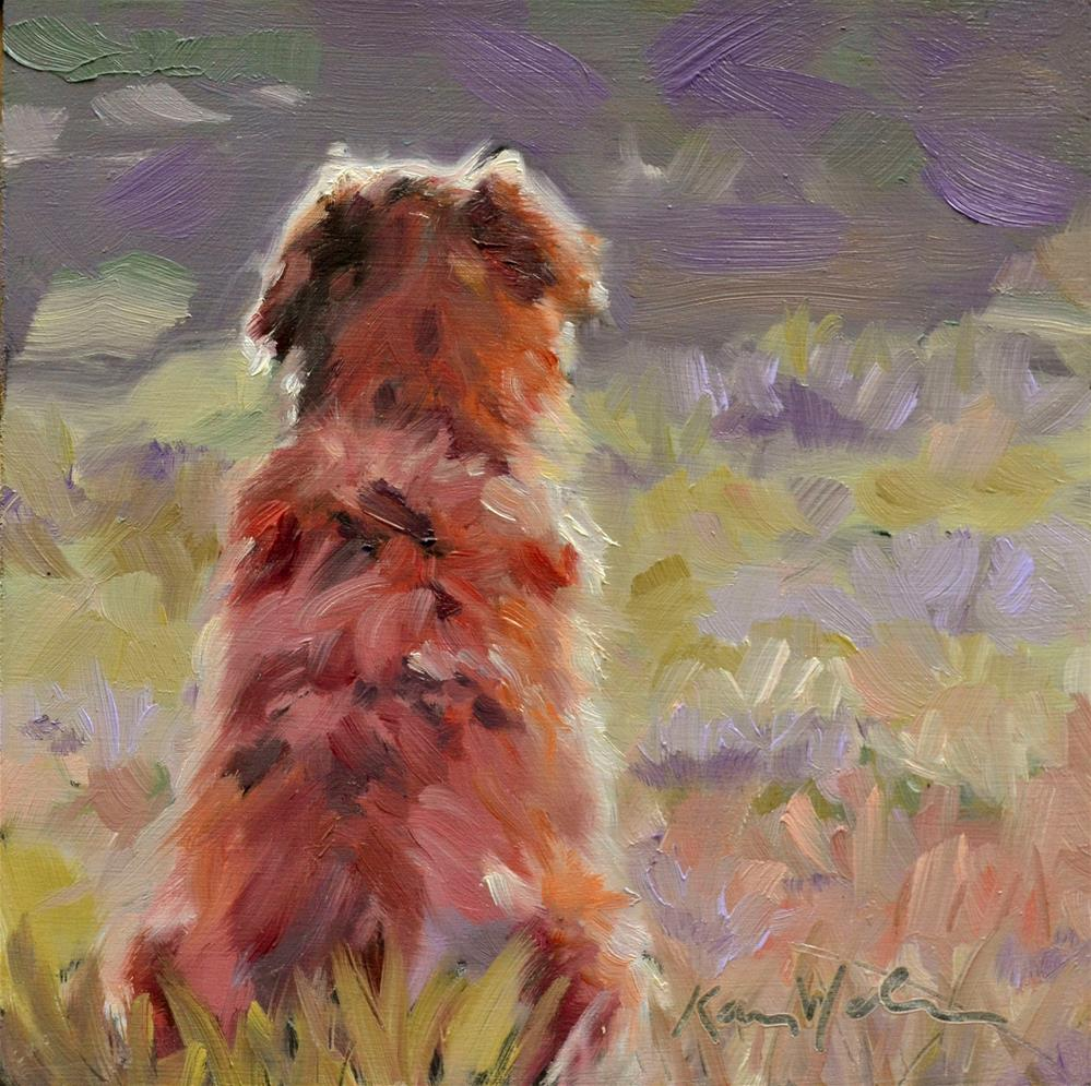 """Waiting"" original fine art by Karen Weber"