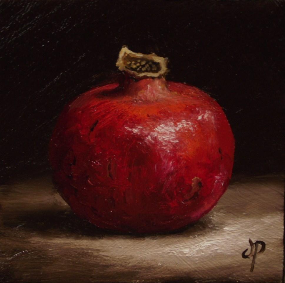 """Little Pomegranate"" original fine art by Jane Palmer"