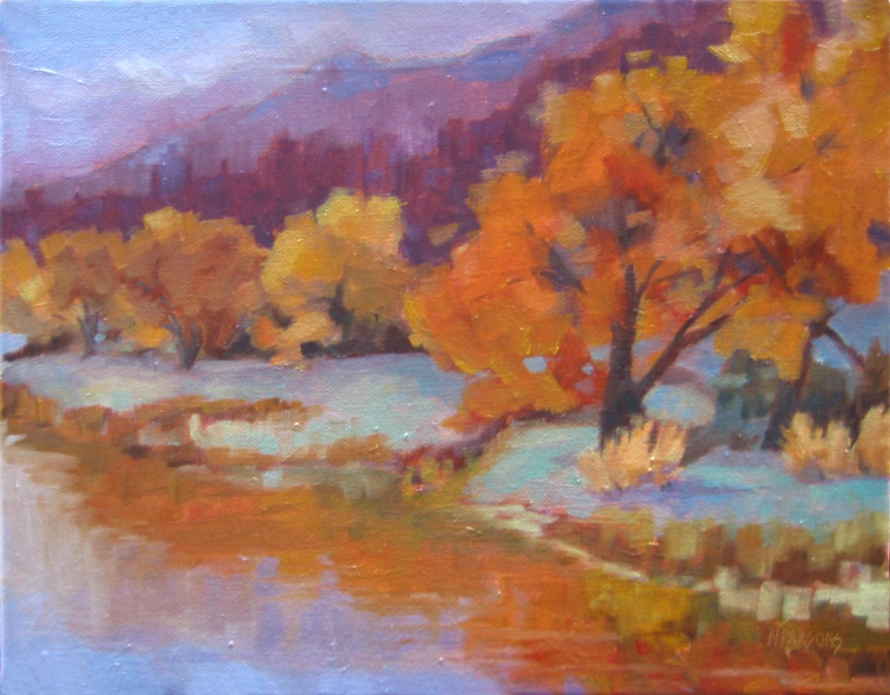 Rio Grande Harvest original fine art by Nancy Parsons