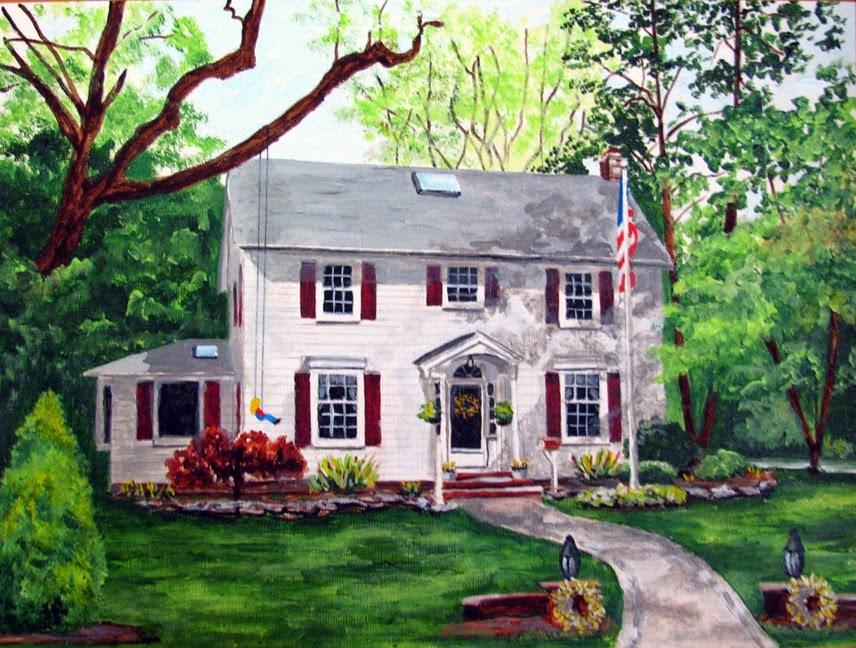 """Welcome Home"" original fine art by Nan Johnson"
