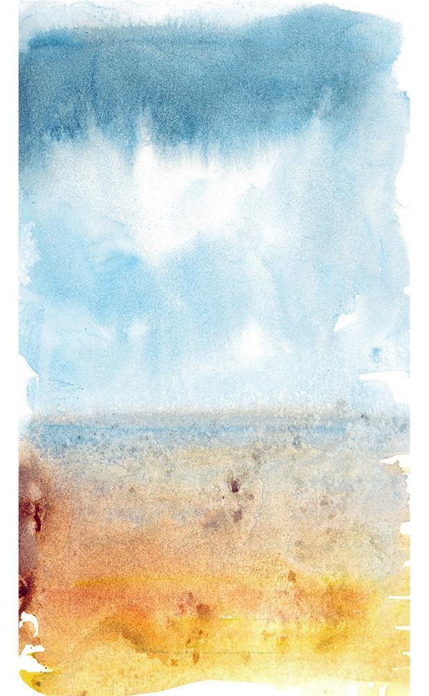 """Left Coast Impressions 4"" original fine art by Tonya Doughty"