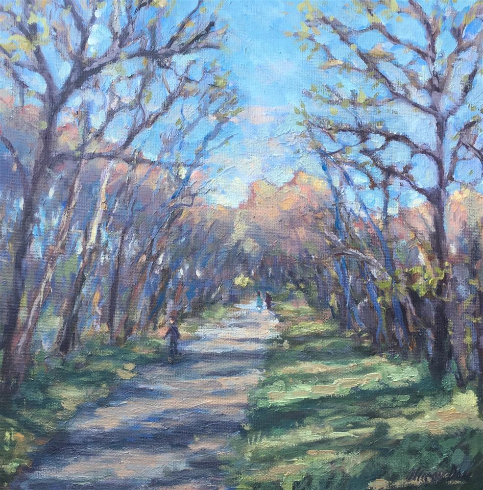 """""""Along the Hooch at Cochran Shoals"""" original fine art by Allison Doke"""