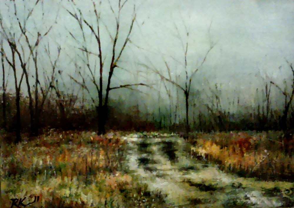 """Winter Stillness"" original fine art by Bob Kimball"