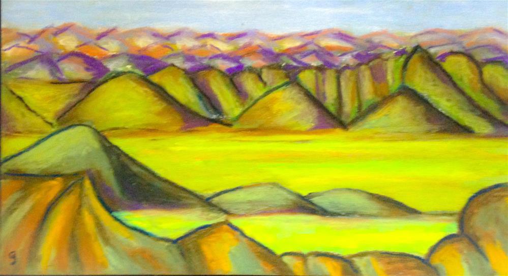 """Badlands 8, South Dakota"" original fine art by Giovanni Antunez"