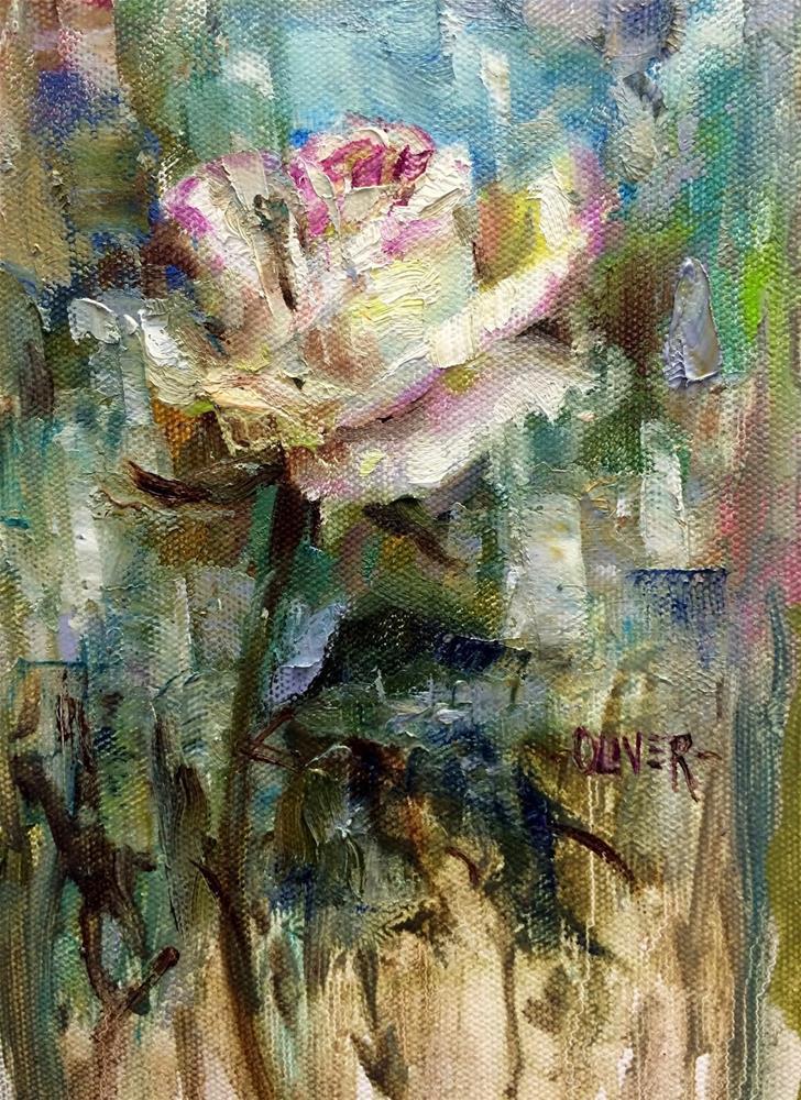 """""""White Rose"""" original fine art by Julie Ford Oliver"""
