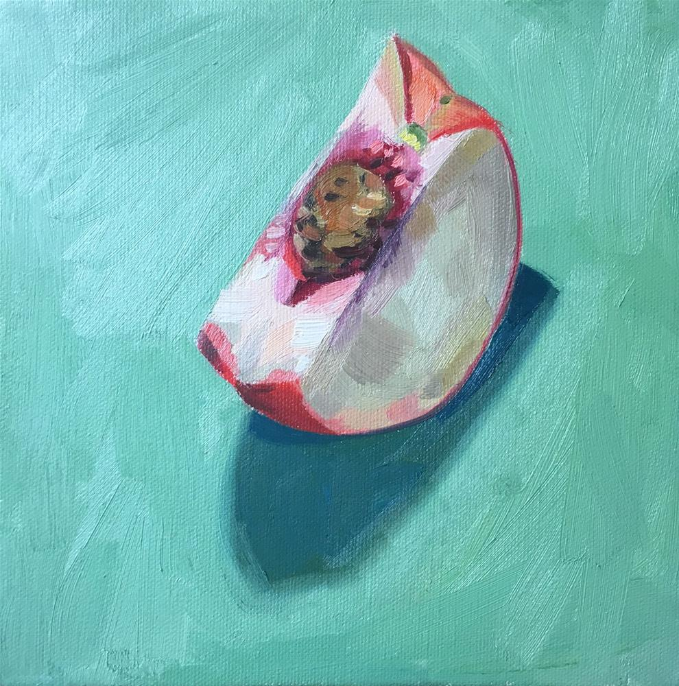 """White Peach"" original fine art by Katy O'Connor"