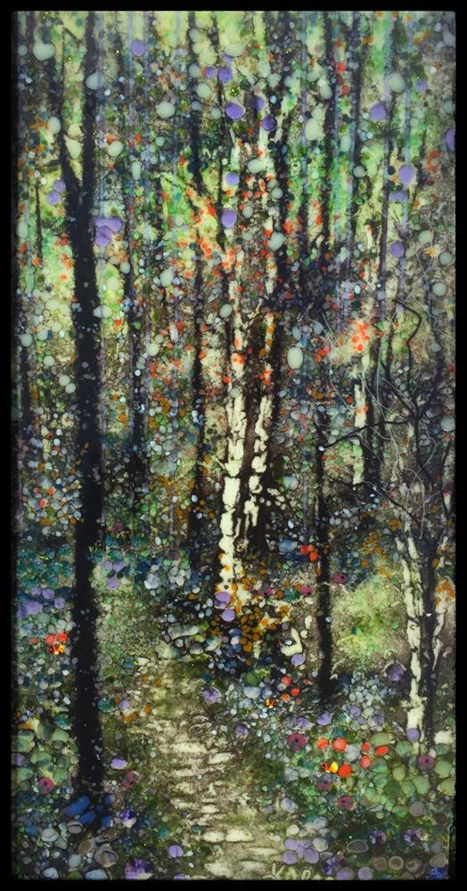 """Silver Forest Path"" original fine art by Kelly Alge"