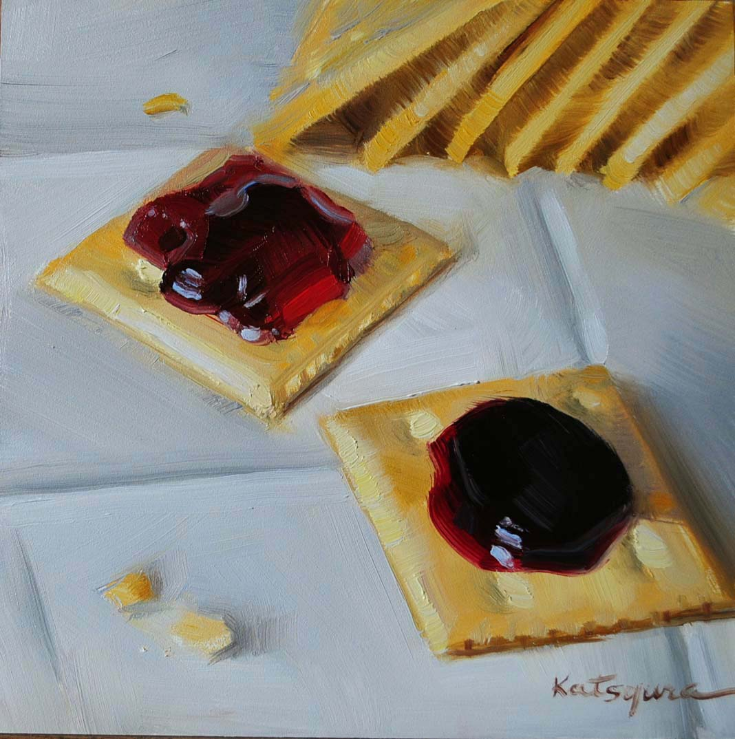 """Cherry & Blackberry Jam"" original fine art by Elena Katsyura"
