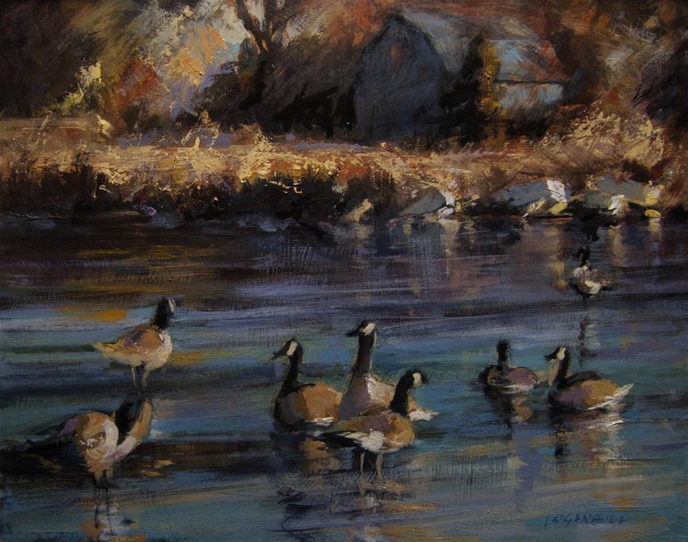"""In the Crisp Early Morning"" original fine art by Joseph Loganbill"
