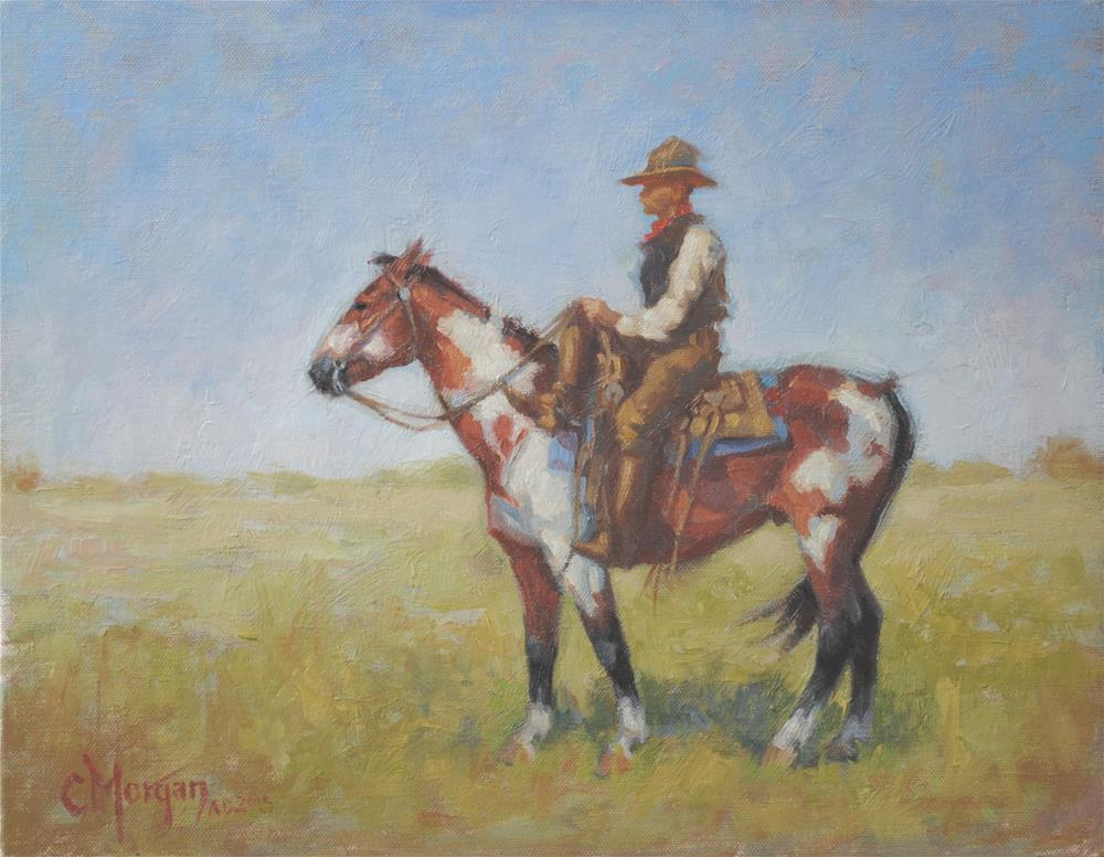 """Revisited, Wrangler Memories #3"" original fine art by Cecile W. Morgan"