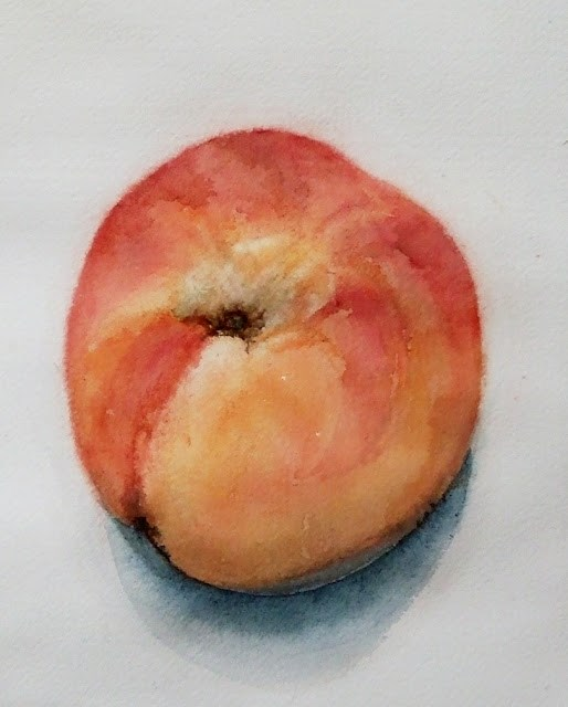 """My peach"" original fine art by Mitsuru Cope"