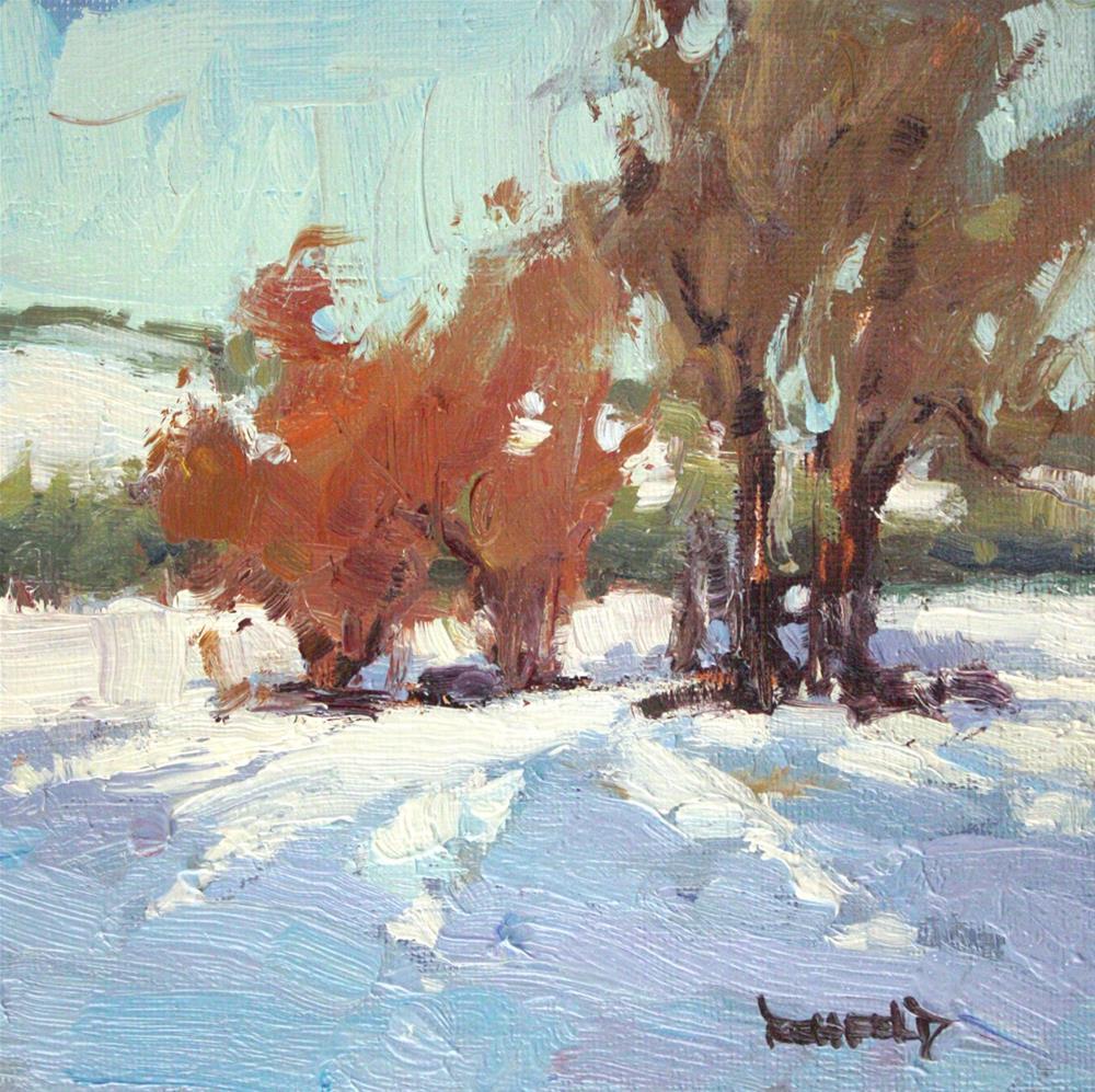 """Ranch Snow"" original fine art by Cathleen Rehfeld"
