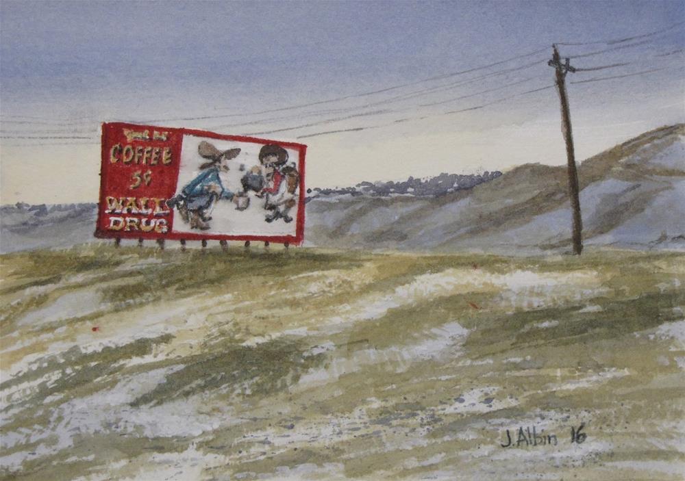 """Five Cent Coffee !"" original fine art by Jane Albin"