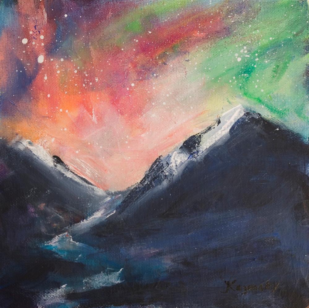 """""""Nebula Sky"""" original fine art by Yulia Kazansky"""