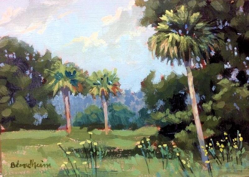 """""""Bird Island"""" original fine art by Linda Blondheim"""