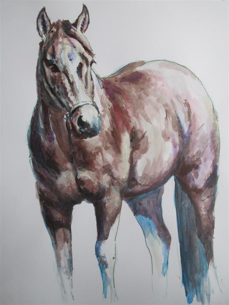 """Horse Study"" original fine art by Kate Less-Madsen"