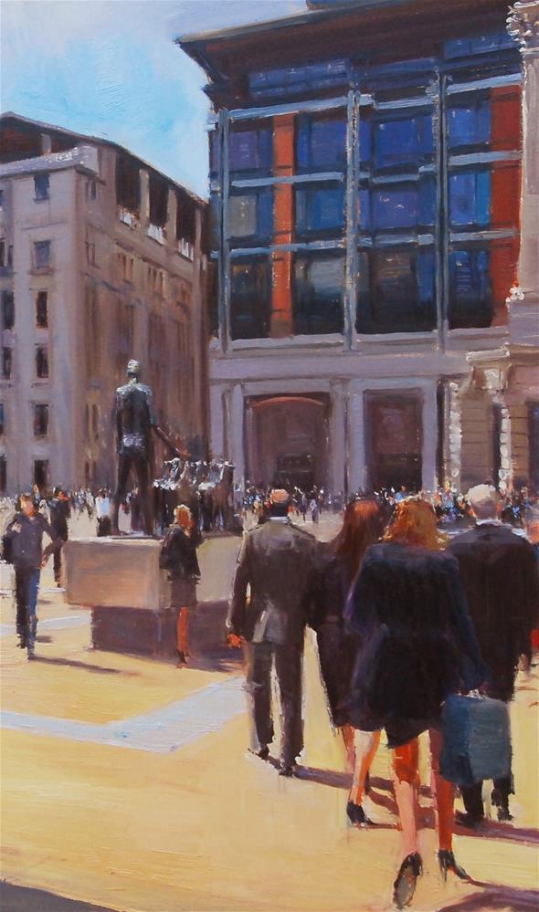 """Paternoster Square II"" original fine art by Adebanji Alade"