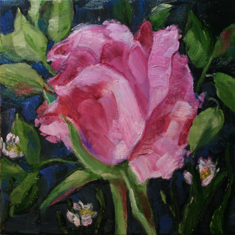 """Rosebud"" original fine art by Jean Nelson"