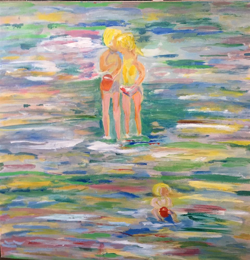 """At the Beach"" original fine art by Sheila Clark Lundy"