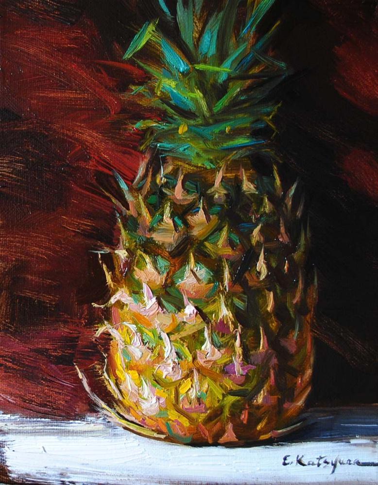 """Pineapple"" original fine art by Elena Katsyura"