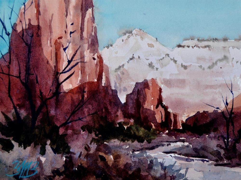 """River Through Zion Study"" original fine art by Brienne M Brown"