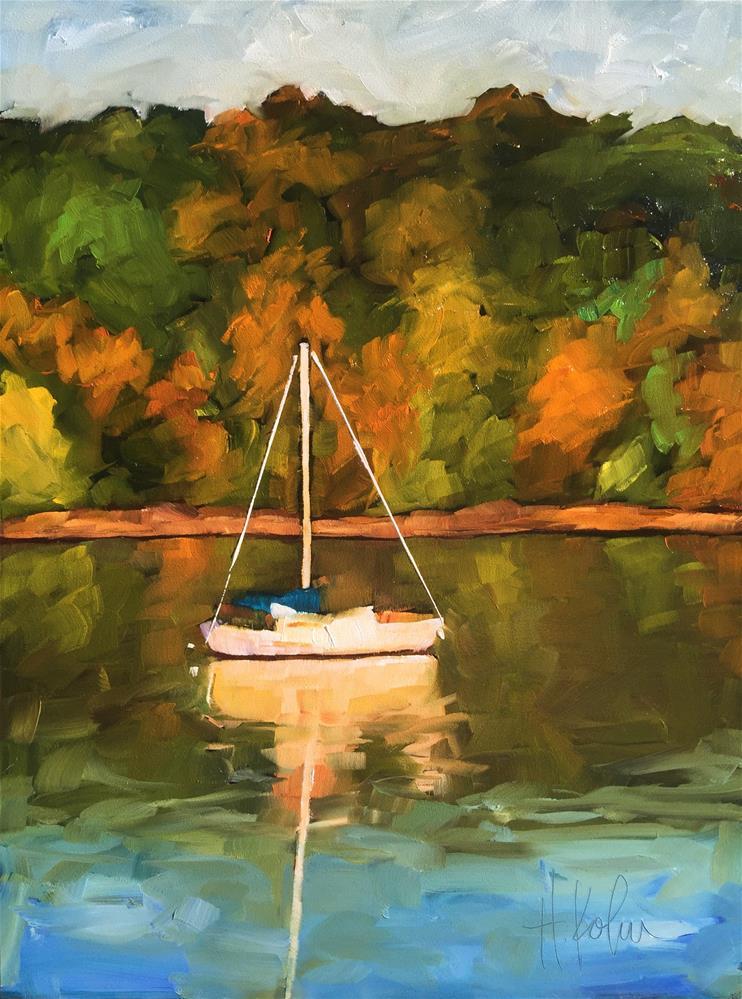 """Autumn at the Lake"" original fine art by Hallie Kohn"