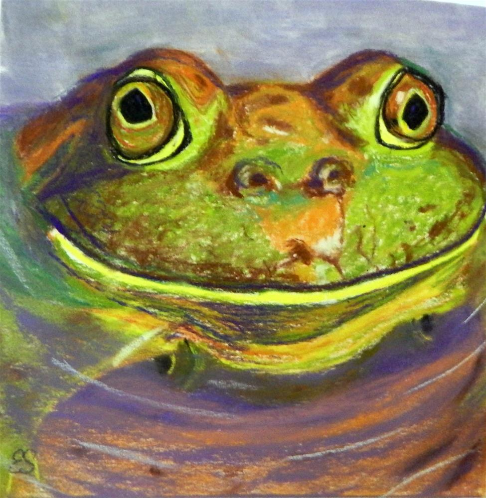 """Smiling Frog"" original fine art by Elaine Shortall"