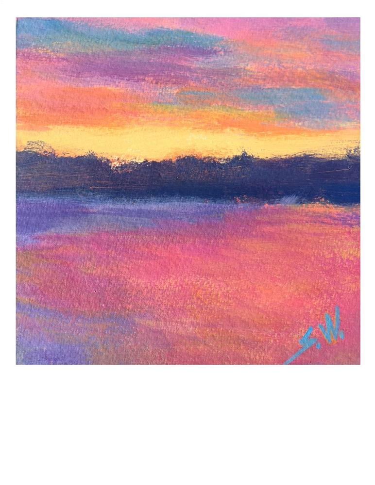 """Pink, Purple And Orange"" original fine art by Suzanne Woodward"