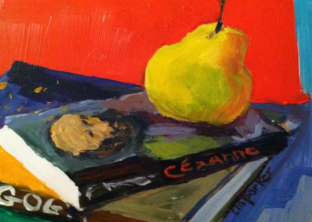"""Still Life with Cezanne"" original fine art by Christine Parker"