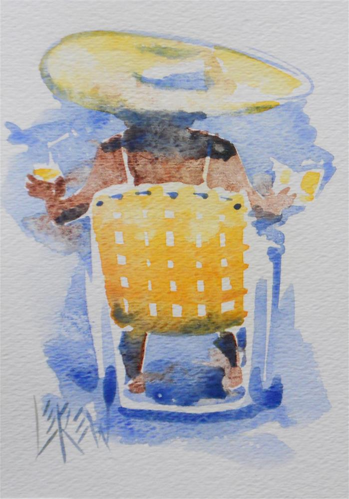 """""""Serendipity Blot Figure #140220 by Larry Lerew"""" original fine art by Larry Lerew"""