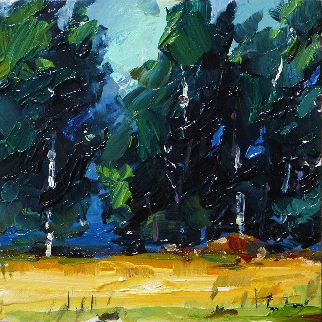 """birch forest"" original fine art by Jurij Frey"