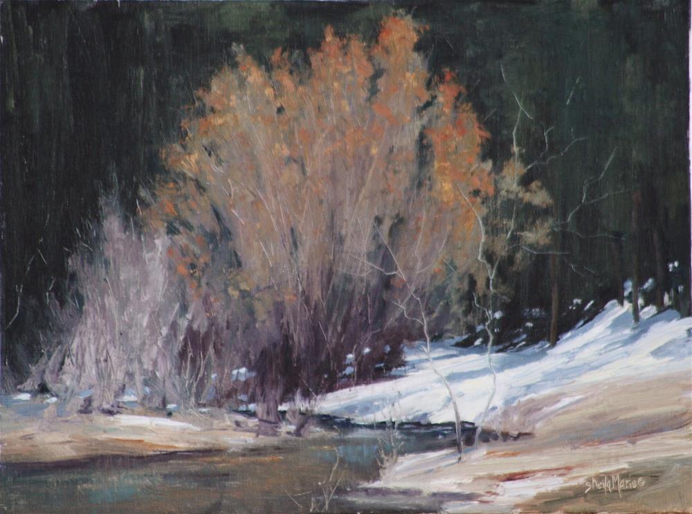 """Bear Creek Below the Church"" original fine art by Sheila Marie"