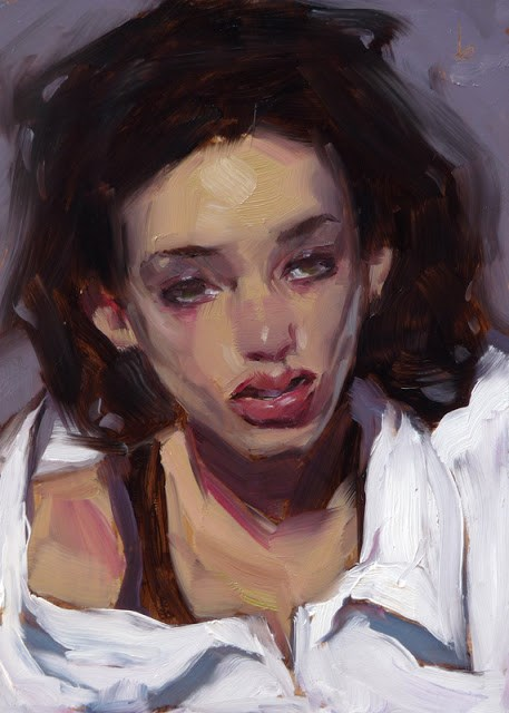 """Big White Shirt"" original fine art by John Larriva"