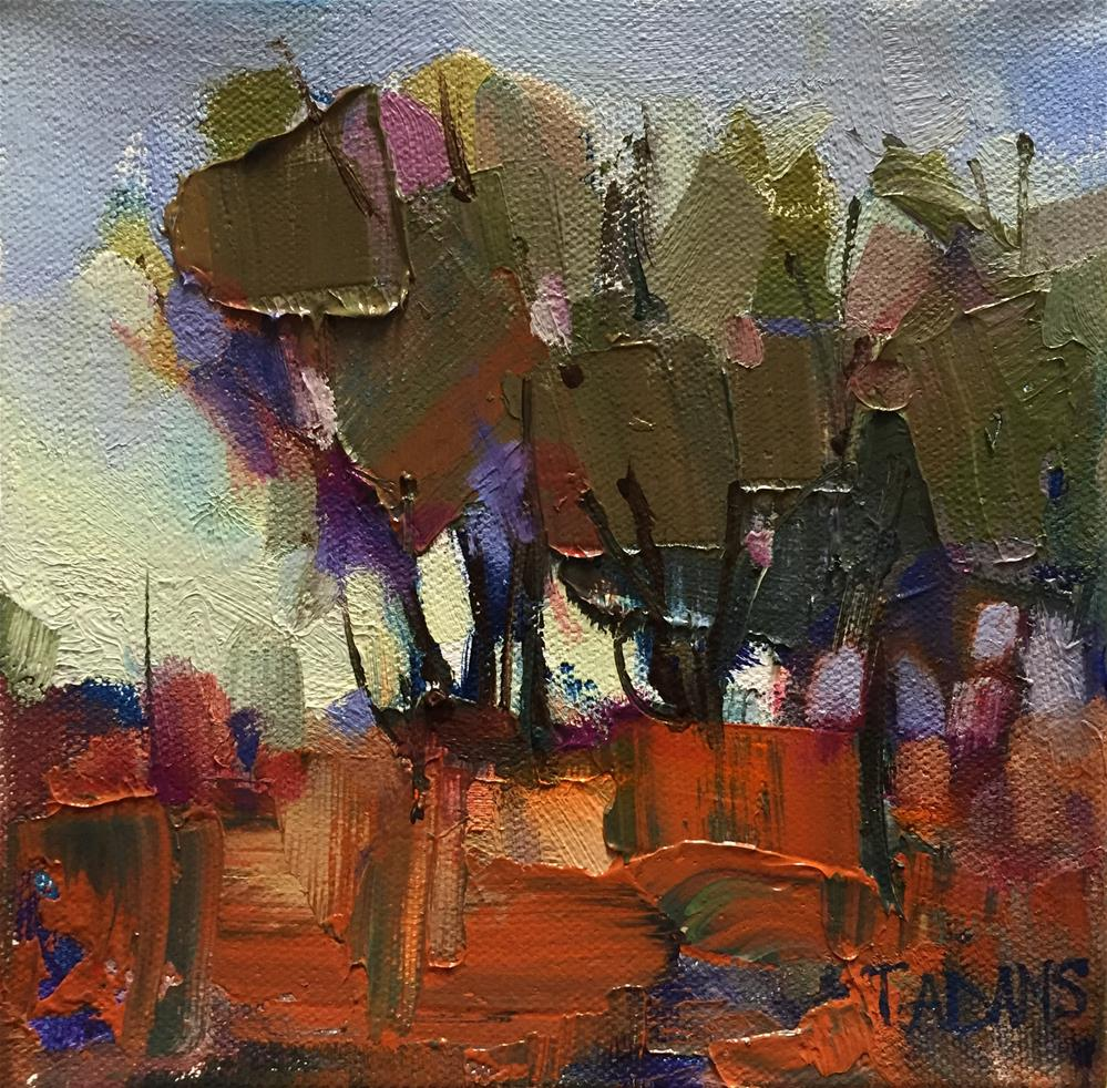 """Silhouetted Trees"" original fine art by Trisha Adams"