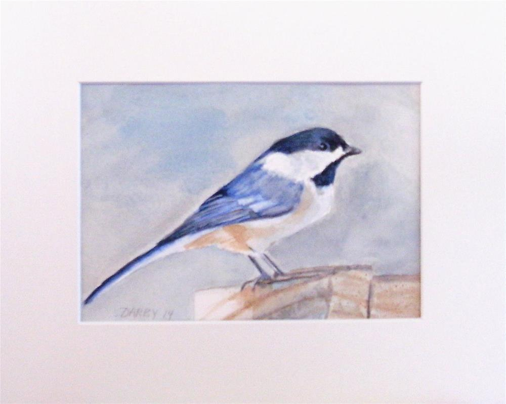 """Black Capped Chickadee"" original fine art by Lynn Darby"