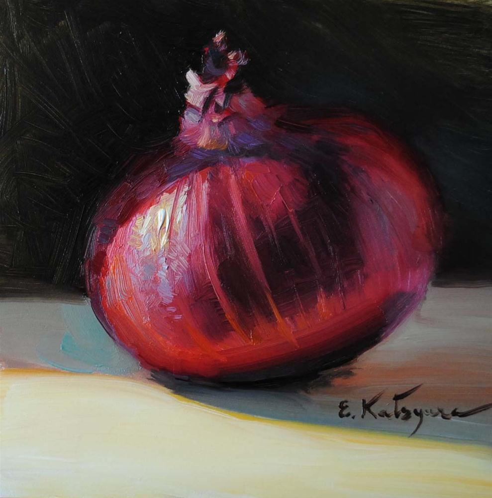 """Red Onion"" original fine art by Elena Katsyura"