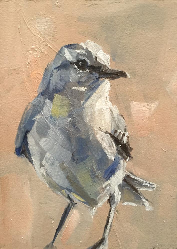 """Listen to the Mockingbird"" original fine art by Gary Bruton"