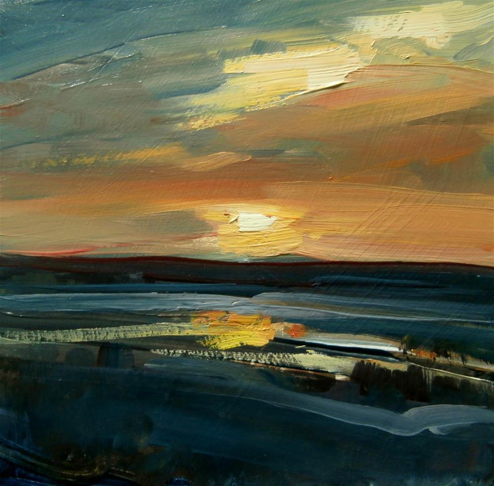 """""""Nightfall"""" original fine art by Anne Wood"""