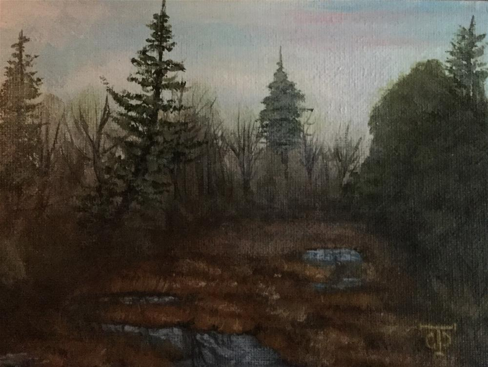 """Dawson Creek Mist"" original fine art by T.C. Poole"
