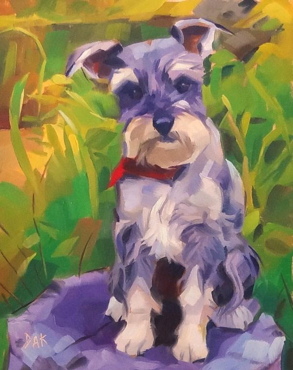 """Casey"" original fine art by Deborah Ann Kirkeeide"