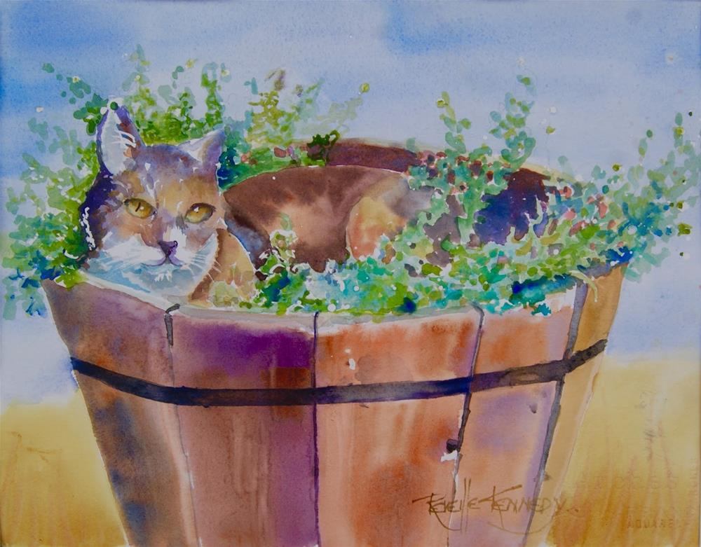 """Cat Nap"" original fine art by Reveille Kennedy"