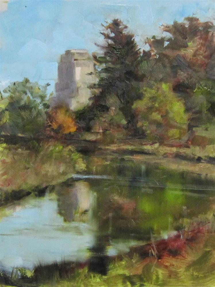 """Plein air Forest Park, St. Louis, Mo."" original fine art by Sandy Haynes"