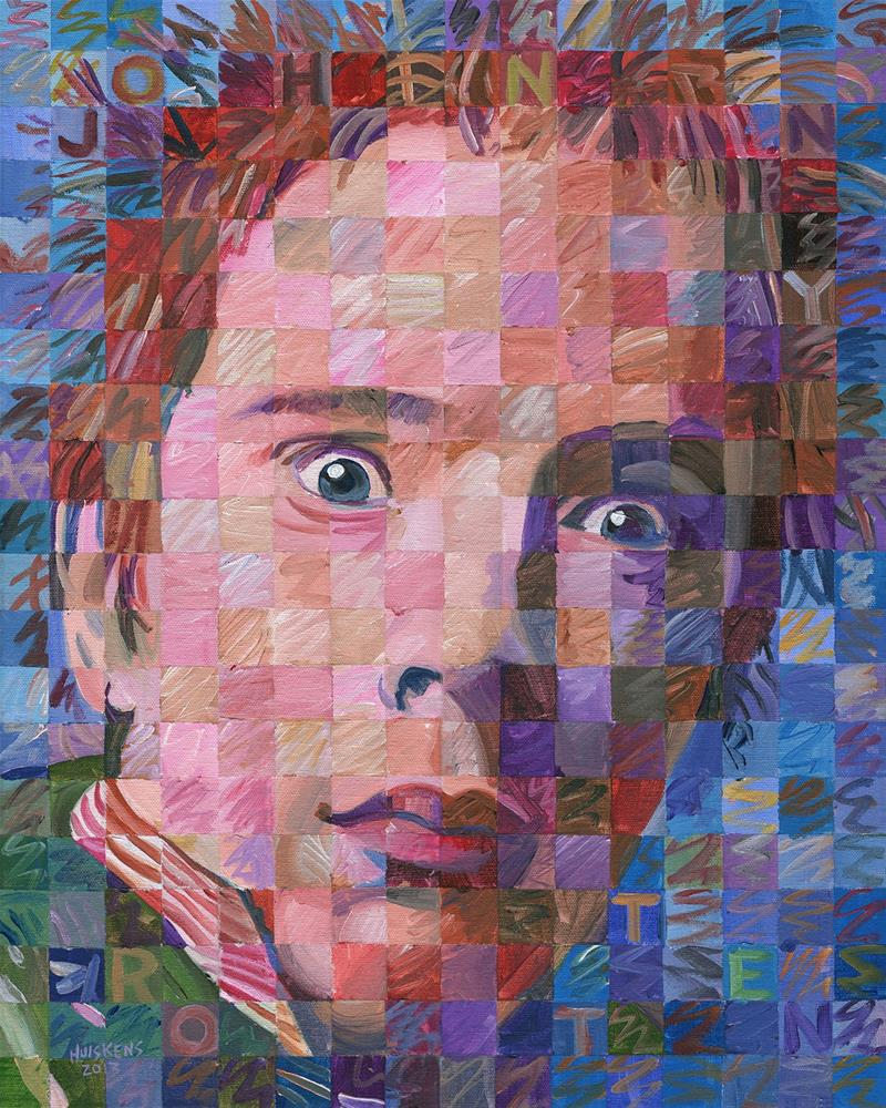 """Johnny Rotten (John Lydon)"" original fine art by Randal Huiskens"