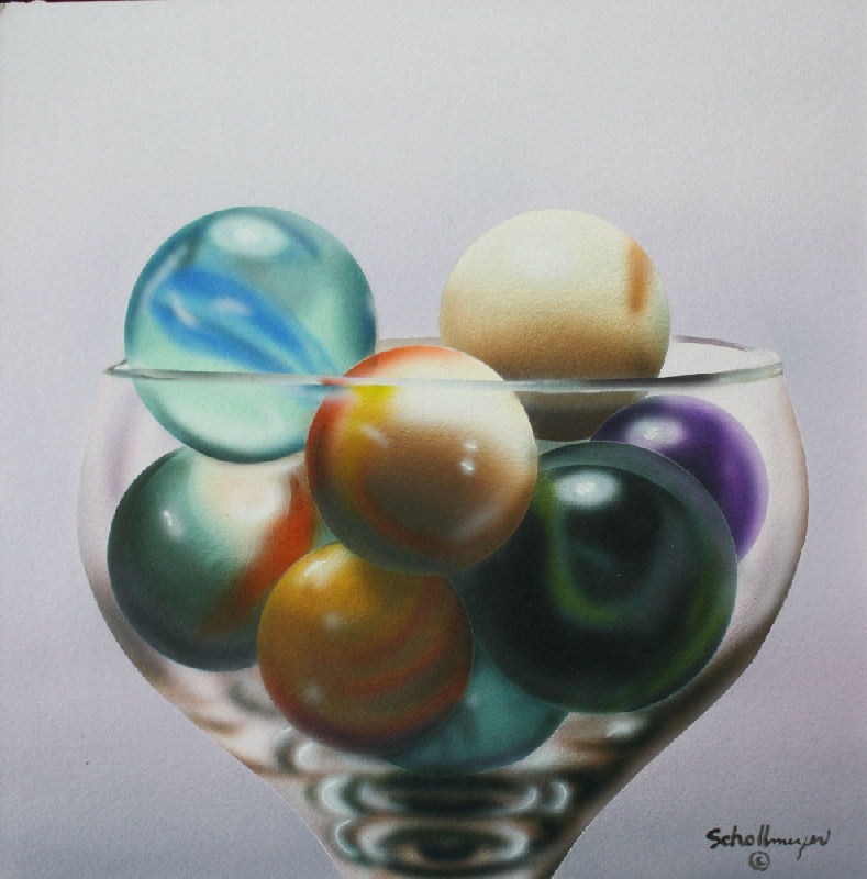 """Marbles # 9"" original fine art by Fred Schollmeyer"