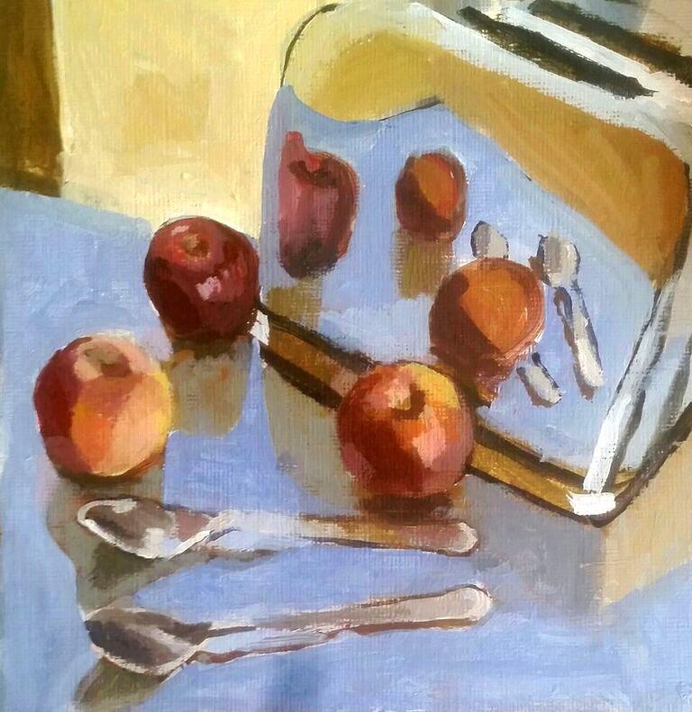 """Toaster Reflection"" original fine art by Liz Maynes"