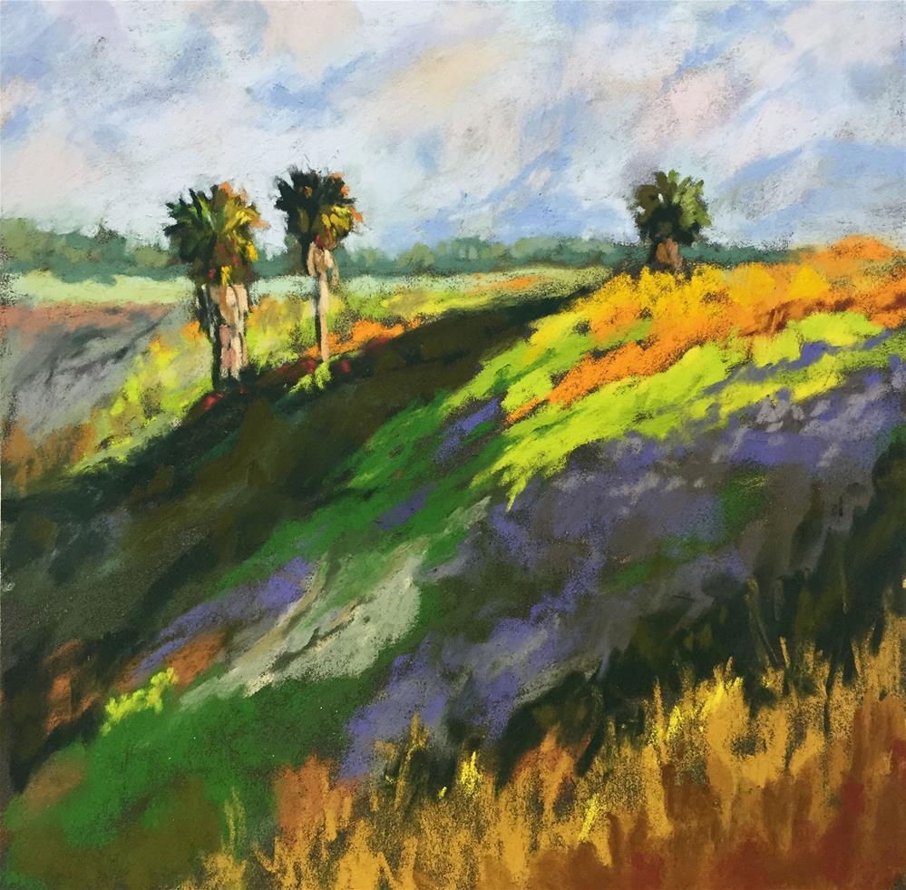 """California Palms"" original fine art by Sherri Cassell"