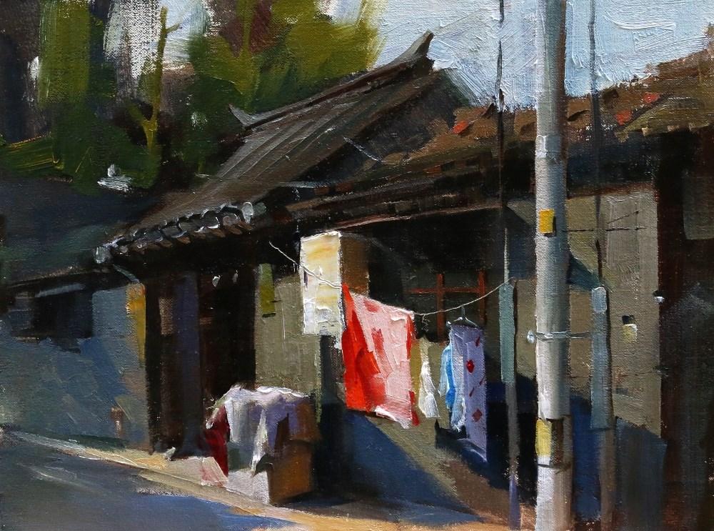 """""""Beijing Hutong 2014 - 5"""" original fine art by Qiang Huang"""