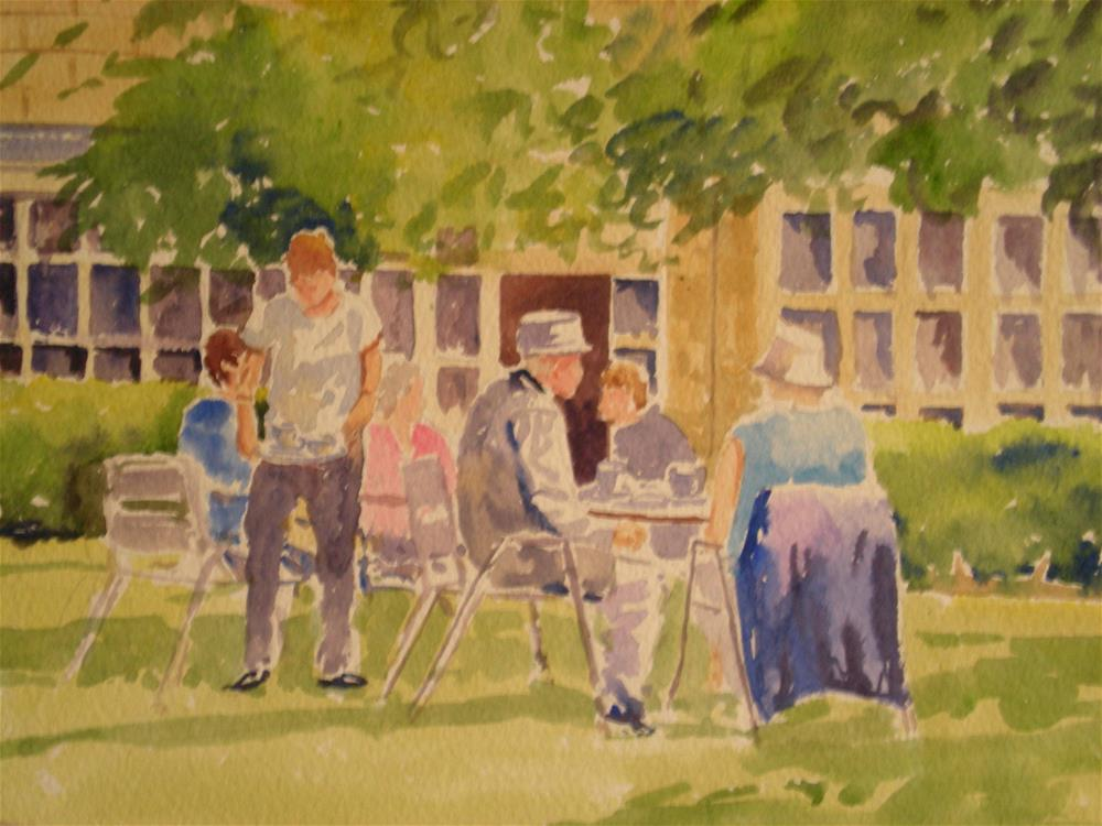 """Lunch at the Chestnut"" original fine art by Graham Findlay"